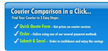 Courier Comparison in a Click - Find your Courier in 3 Easy Steps